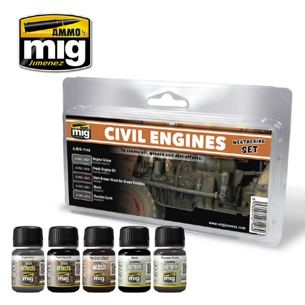 lagerCIVIL ENGINES WEATHERING, Ammo MIG