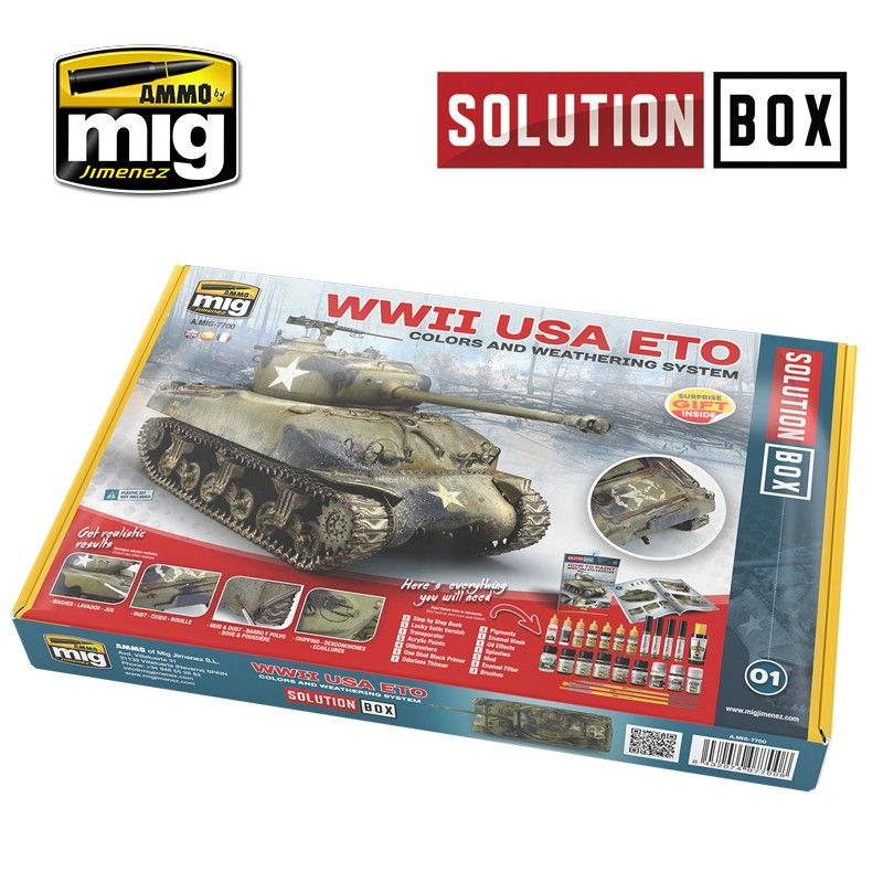 lagerWWII AMERICA SOLUTION BOX, Ammo MIG