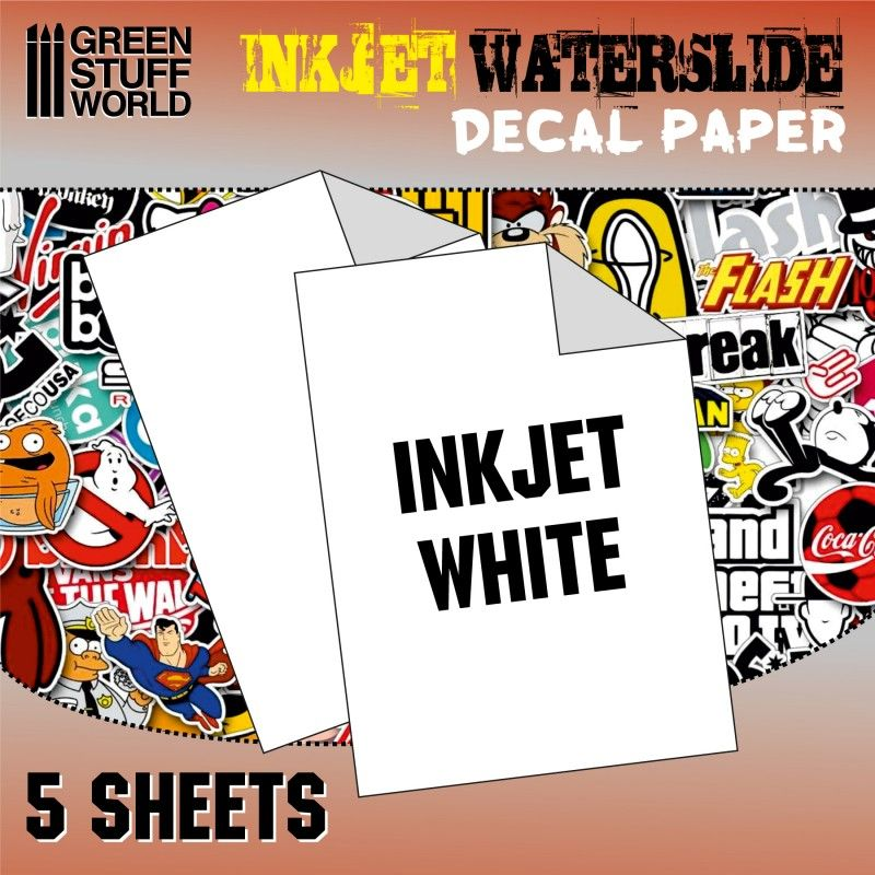 lagerWaterslide Decals Inkjet, Green stuff