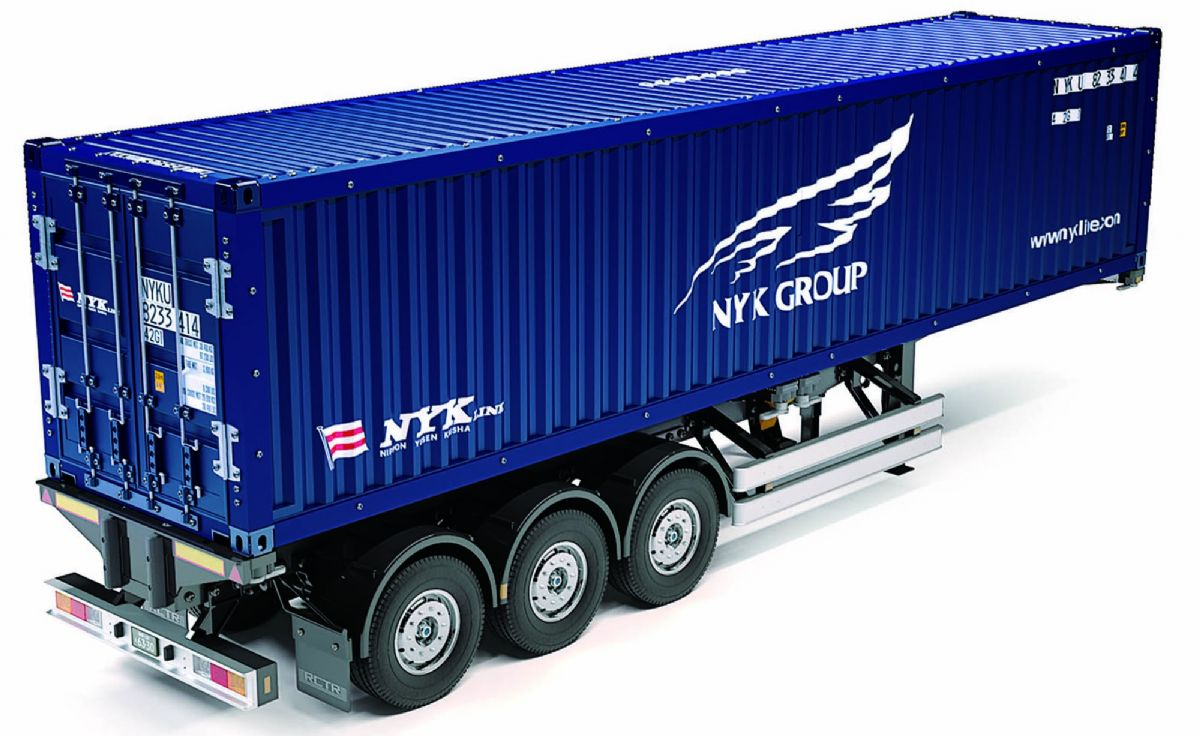 lager40FT CONTAINER SEMI-TRAIL, Tamiya